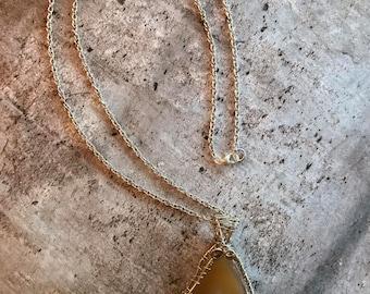 Unique Wire Wrapped Agate Slice