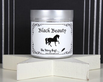 Black Beauty Scented Soy Candle | Classic Literary Candle |  Book Lover Gift  | Bookish Candle | Bookish Gift | TheStoryGift