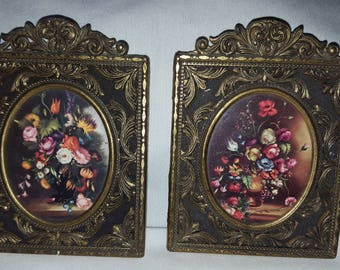 Pair of Vintage flower pictures