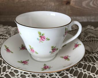 Adderley Bone China Tea Cup and Saucer Vintage