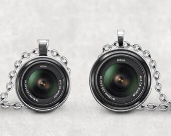 Nikon Camera Lens Necklace, Camera Lover, Camera Lens Jewelry, Vintage Camera Lens, Photography Necklace, Old Retro Camera,  Pendeloque