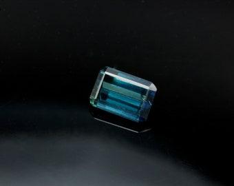 Indicolite Emerald cut 0.98ct