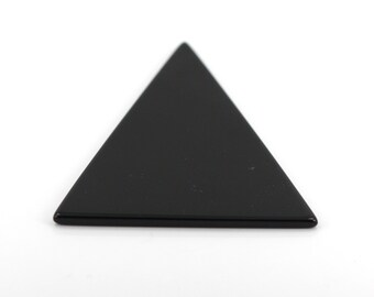 47X42 mm Flat Back Triangle Black Onyx Stone