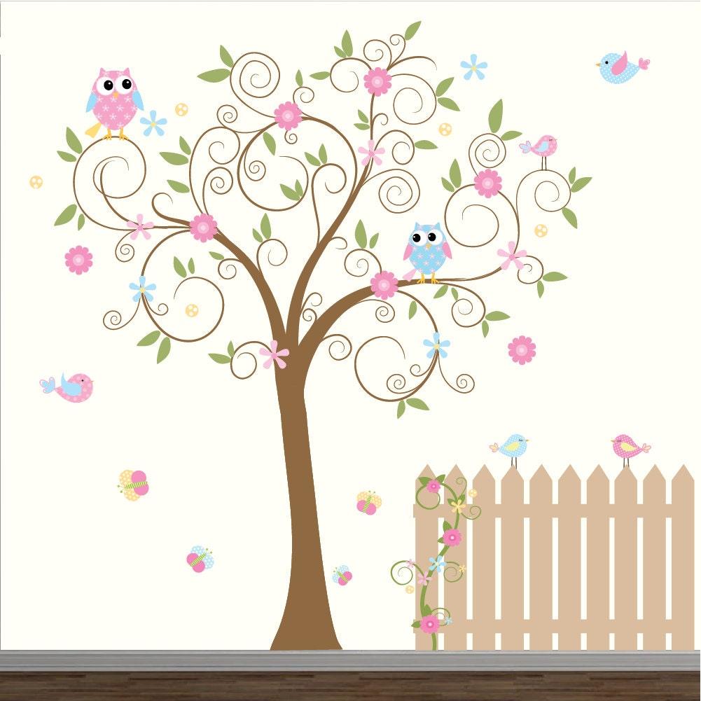 Vinyl Wand Aufkleber Kinderzimmer Wand Aufkleber-Baum mit