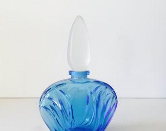Vintage Cobalt Blue Perfume Bottle
