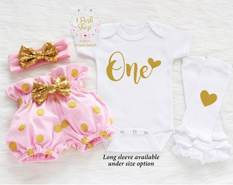 First Birthday Outfit Girl, 1st Birthday Girl Shirt, First Birthday Outfit, 1st Birthday Outfit Girl, Girl First Birthday Outfit BF10