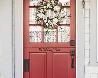 No Soliciting Door Decal