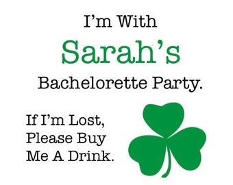 Irish Bachelorette Party Favors Shamrock Party St Patricks Day Bachelorette Party St Patricks Day Favor