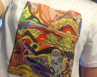 Psychedelic Sunrise ORIGINAL ART SHIRT