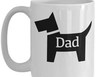 Dog Dad White Coffee Mug Puppy Lovers Rescue Dogs Gift for Dad