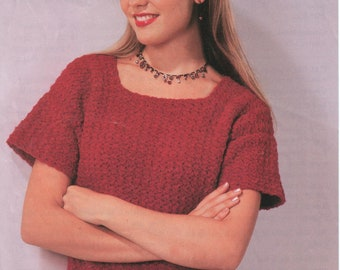 Tee Top Digital Download Crochet Pattern