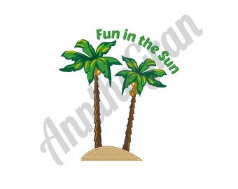 Palm Trees - Machine Embroidery Design
