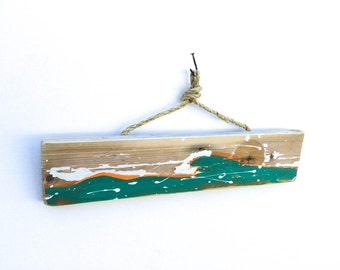 Personalize This Original Art Item-Ocean Waves Beach Sign Beach Decor Island Art Surfing West Coast Beach Art Mangoseed