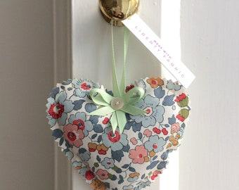 3 x Liberty Print Dried Lavender Bags | Heart Shape