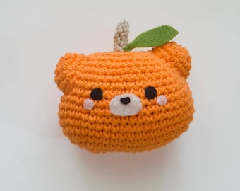 Pumpkin Patch Bear Pattern - Crochet Halloween Pattern