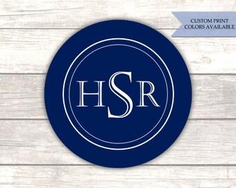Monogram stickers - Monogram sticker sheets - Envelope stickers - Wedding envelope seals - Monogram labels (RW109)