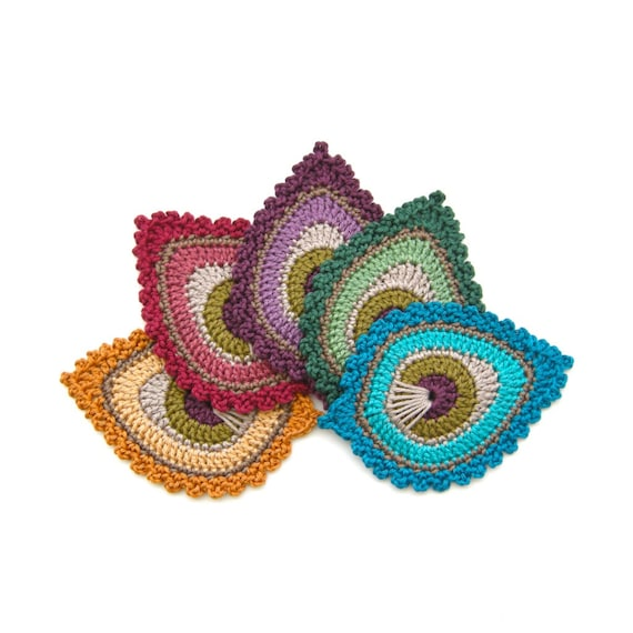 Crochet Pattern Peacock Feather Motif Java