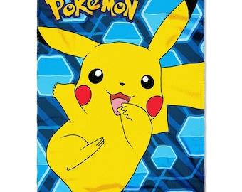 """Pokémon """"Pikachu"""" Fleece Throw Blanket  Personalized"""