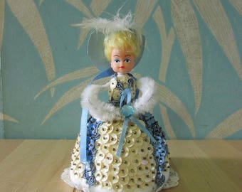 "1970s ""Li'l Missy""/Pinflair pipe cleaner & sequin Styrofoam doll"