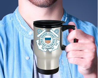 U.S. Coast Guard Travel Mug, Travel Mug, Military Gift, USCG
