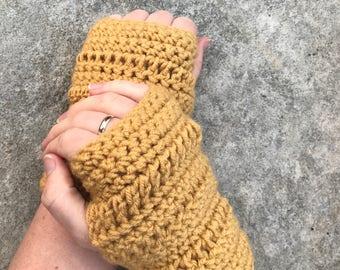 Fingerless Gloves - Handwarmers - Yellow