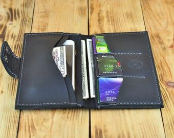 Black wallet, Big wallet, Passport wallet, Travel wallet, Leather travel wallet, Black wallet womens, Black leather wallet, Large wallet