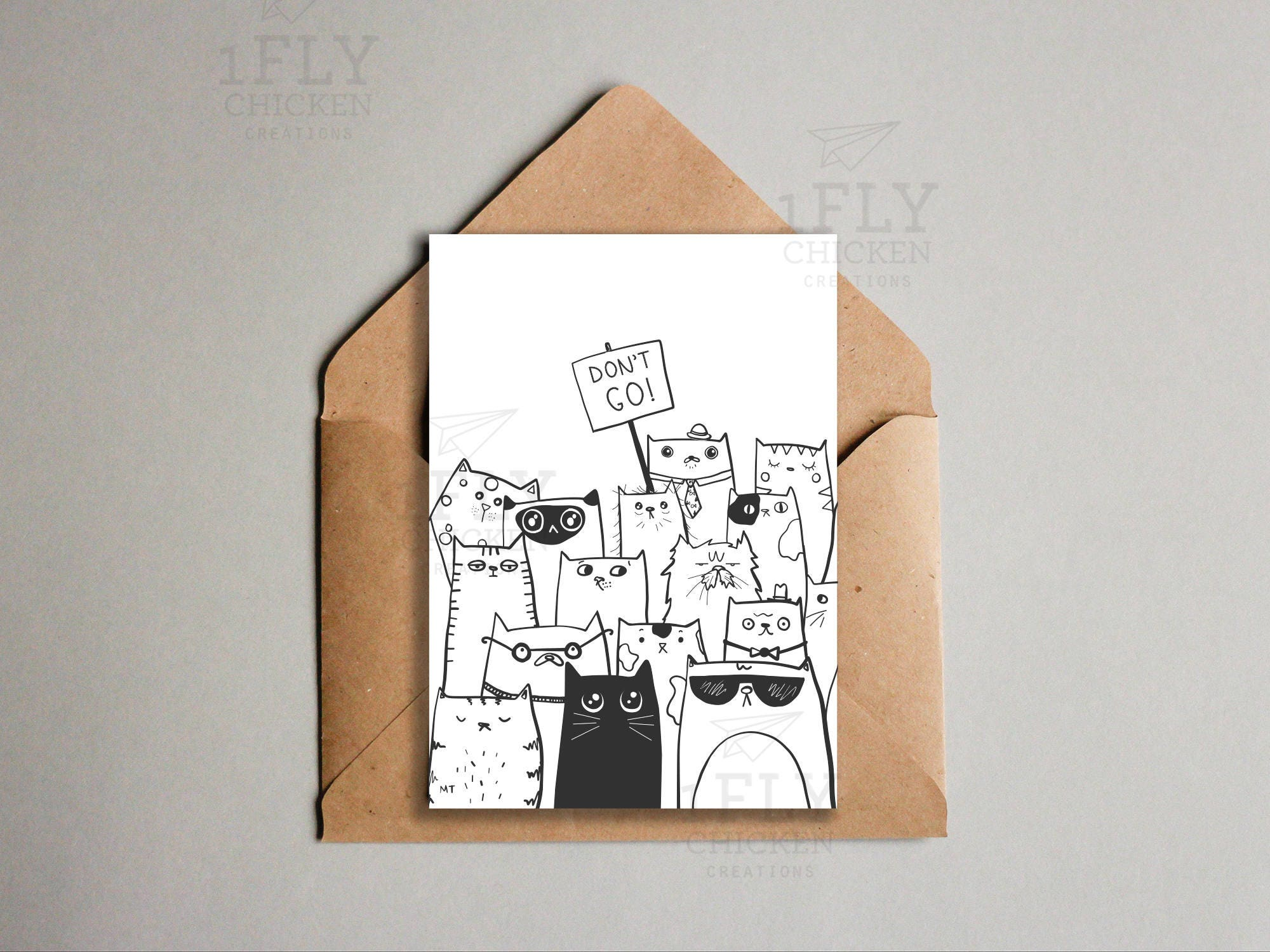 Printable dont go goodbye cats greeting card from all zoom kristyandbryce Gallery