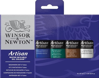 Winsor & Newton Artisan Oil Colour Set - 6 x 37ml Beginners Set
