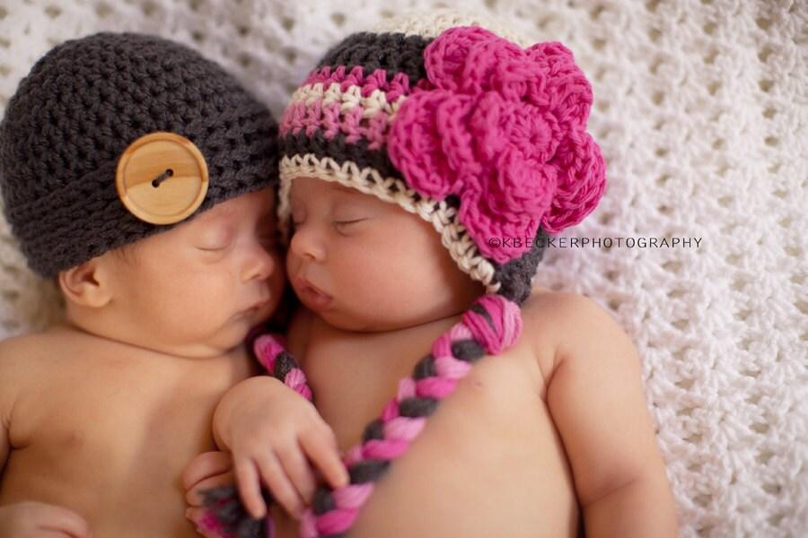 Twin Newborn Hats