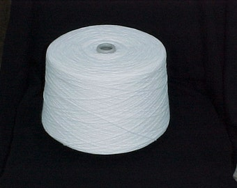 White 2/24 Acrylic Yarn, White Cone Yarn, Machine Knitting Yarn