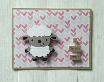 I Love Ewe Sheep Card