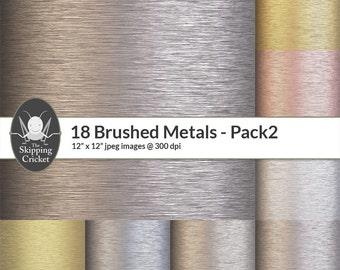 18 brushed metal papers, brushed metal textures, brushed metal backgrounds,copper,titanium,platinum,cobalt,iron,aluminium INSTANT DOWNLOAD