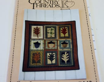 Country Threads: Oak Leaves and Acorns #442 Wall Quilt Pattern NEW