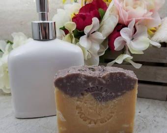 All Natural Soap / Lemongrass Lavender / Artisan Soap / Rustic Soap / Hot Process Soap / Coconut Oil / Vegan / Palm Free / Sustainable