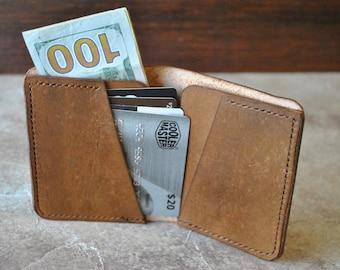 Brown Leather Wallet//Leather Wallet//Bi-Fold Wallet//Brown Bi-Fold Wallet//Folding Wallet//Handmade Wallet//Roomy Wallet//Veg Tanned Wallet