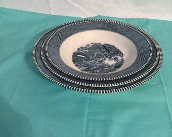 Vintage  currier &Ives serving bowls