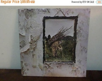 Save 30% Today Vintage 1971 LP Vinyl Record Led Zeppelin IV (Untitled) Near Mint Condition Archive Quality 13572