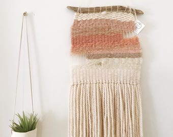 Mauve & Cream Weaving