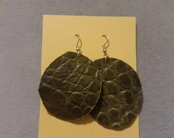 Cricut Cut Leather Earrings