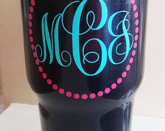 Monogrammed 30 oz. Tumbler Cup
