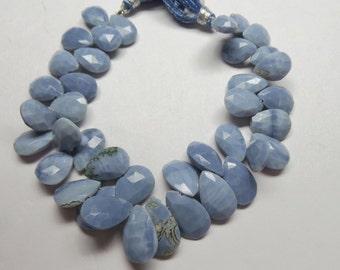 """Ópalo azul peruano Natural magnífico, Briolettes de forma de pera facetados, tamaño 13-17 MM, 8"""" filamento, suelta piedras preciosas AAAA +++ alta calidad superior"""