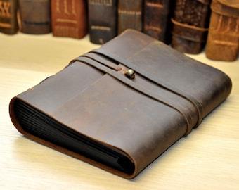 Personalized Leather Photo Album , Rustic leather album ,  Retro album ,Anniversary gifts for him