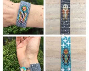 Pattern, Dreamcatcher and Space Owl Loom Patterns Bundle!