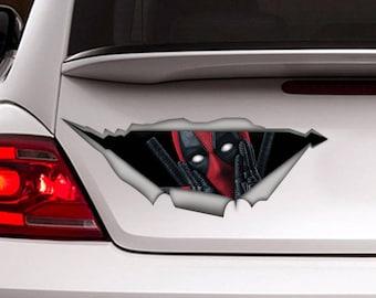 Deadpool car decal, funny decal, Deadpool sticker, Vinyl decal, car decor