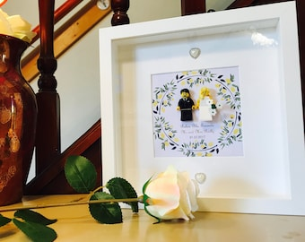 Lego® wedding gift frame. Customable!!
