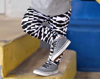 Toddler Pants - Polygonal Baby Leggings - Baby Boy Leggings - Baby Pants - Toddler Leggings - Harem Pants - Baby Harems -  Baby Joggers