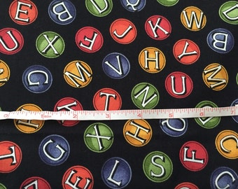 Tidings of Great Joy Quilting Treasures Letters on Circles Fabric Material Cotton 29""