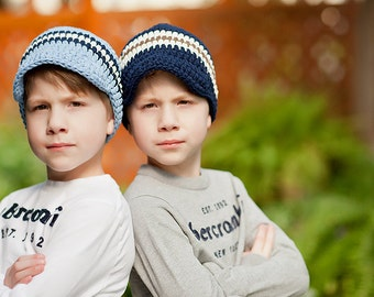 Toddler Boy Hat 2T to 4T Toddler Hat 30 Colors Crochet Hat Visor Beanie Visor Hat Boys Hat Toddler Boy Clothes Toddler Boy Clothing Boy Cap