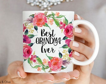 Best Grandma Ever Mug, Mothers Day Coffee Mug, Gift for Grandma, Mothers Day Gift, Ceramic Mugs, Grandma Mug, New Grandma Gift, Q0019
