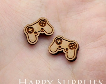 4pcs (SWC255) DIY Laser Cut Wooden Game Machine Charms